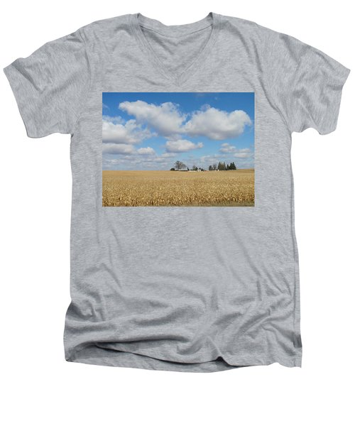Iowa 3 Men's V-Neck T-Shirt