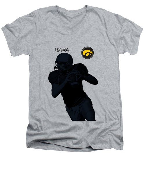 Iowa Football  Men's V-Neck T-Shirt