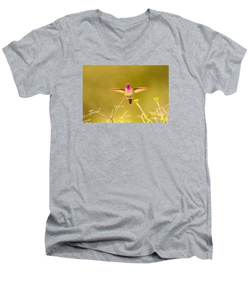 Anna's Beauty   Men's V-Neck T-Shirt