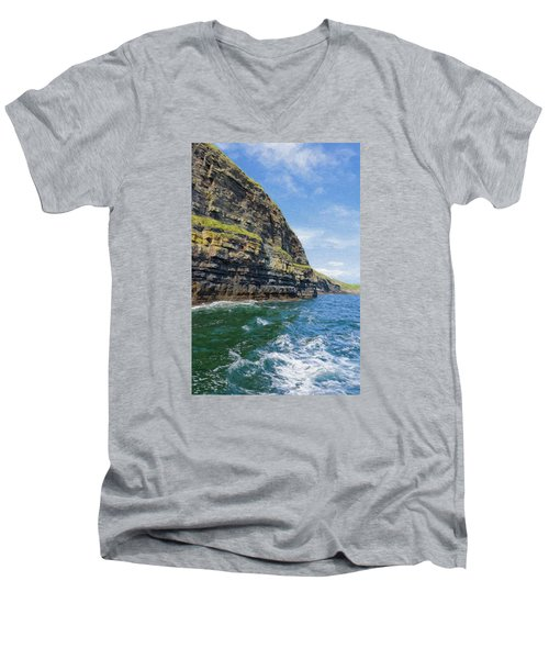 Ireland Cliffs Men's V-Neck T-Shirt