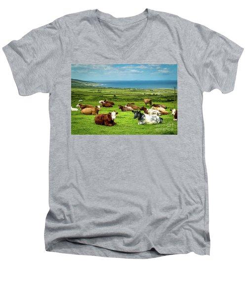 Ireland - Westcoast Men's V-Neck T-Shirt by Juergen Klust