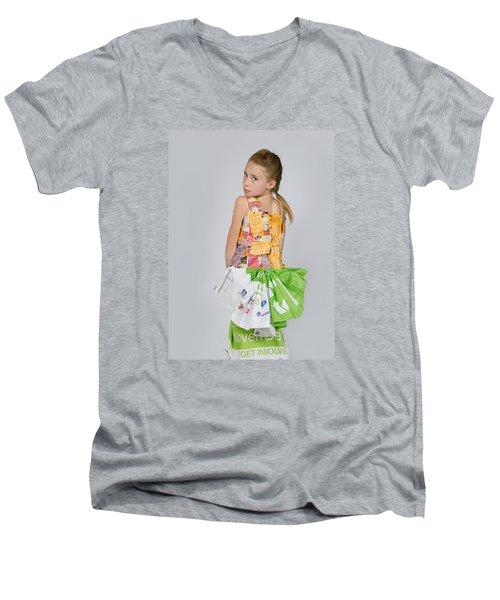 Irene In Tea Bags Shirt And Banners Skirt Men's V-Neck T-Shirt