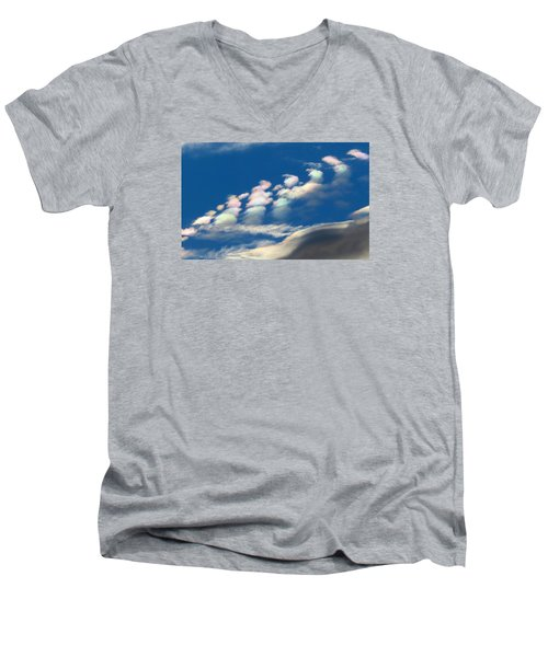 Iridescent Clouds 2 Men's V-Neck T-Shirt