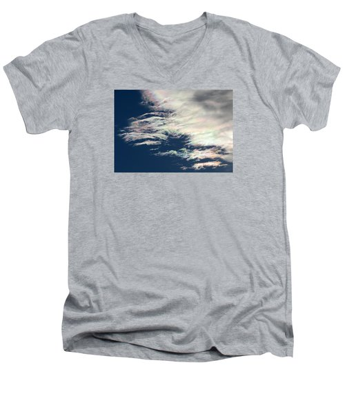Iridescent Clouds 3 Men's V-Neck T-Shirt