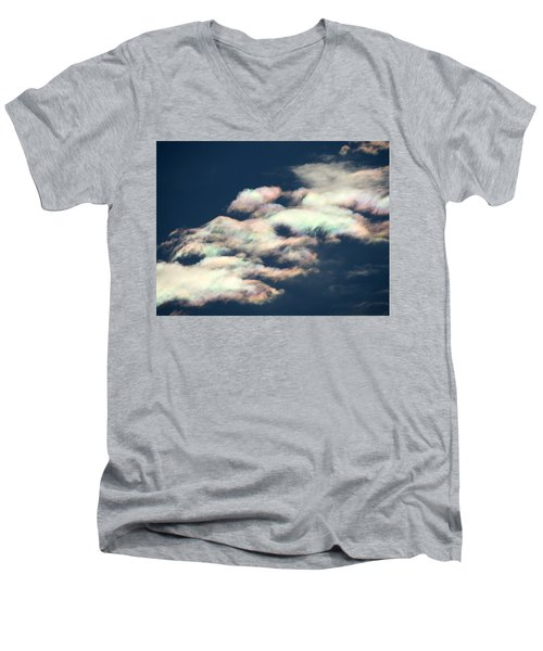 Iridescent Clouds Men's V-Neck T-Shirt