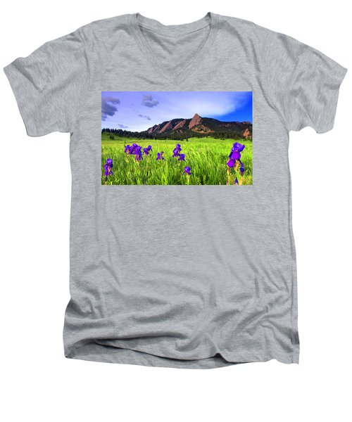 Iris And Flatirons Men's V-Neck T-Shirt