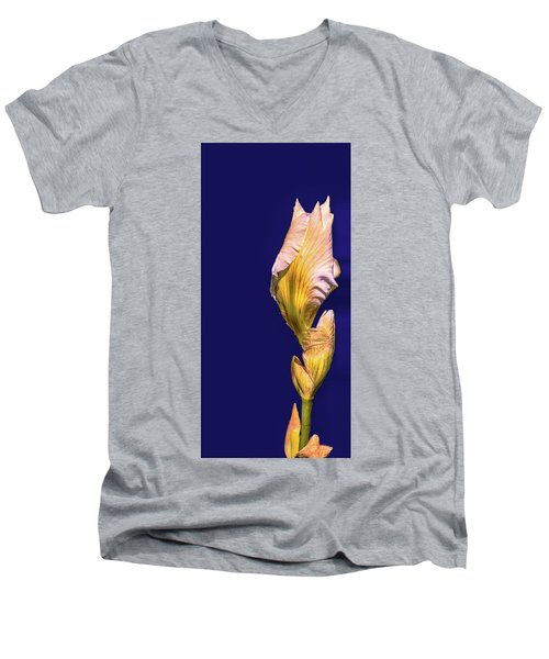 Iris Beginning To Bloom #g0 Men's V-Neck T-Shirt