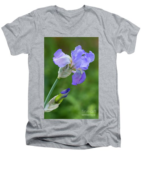 Iris Blue Men's V-Neck T-Shirt