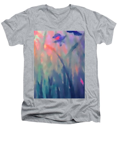 Iris Men's V-Neck T-Shirt by Holly Martinson