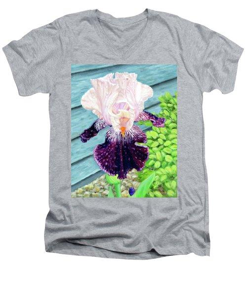 Iris In The Spring Rain Men's V-Neck T-Shirt