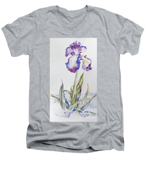 Iris Passion Men's V-Neck T-Shirt