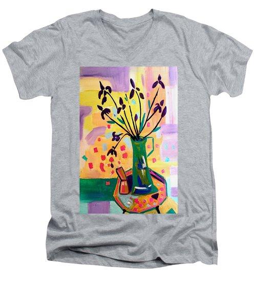 Iris Spring Men's V-Neck T-Shirt