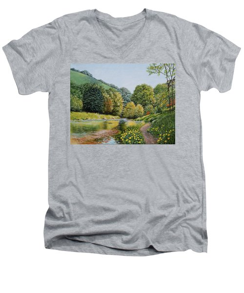 Irish Afternoon Stroll Men's V-Neck T-Shirt
