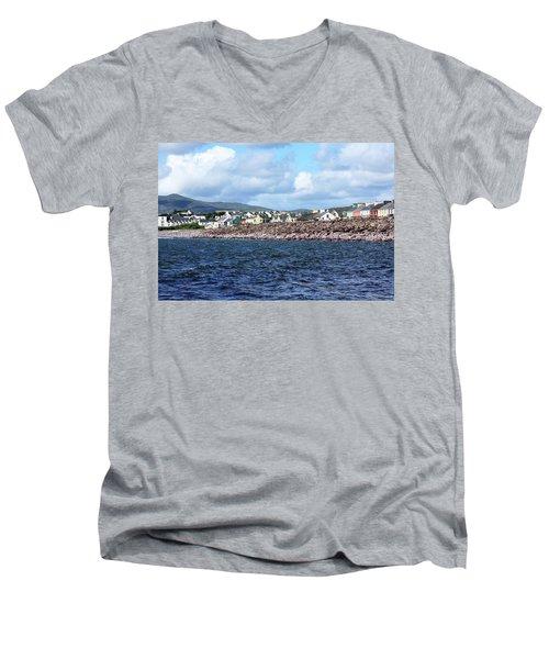 Irish Seaside Village - Co Kerry  Men's V-Neck T-Shirt by Aidan Moran