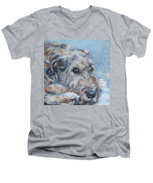 Irish Wolfhound Resting Men's V-Neck T-Shirt