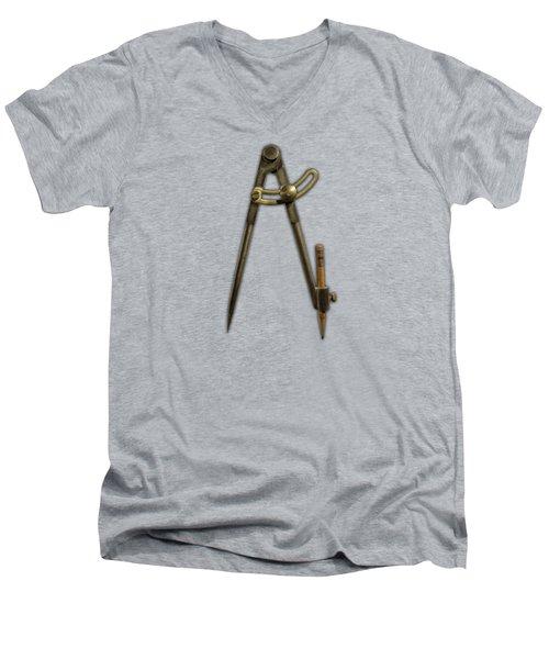 Iron Compass Men's V-Neck T-Shirt by YoPedro