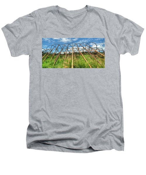 Irrigation Pipes 1 Men's V-Neck T-Shirt by Jerry Sodorff