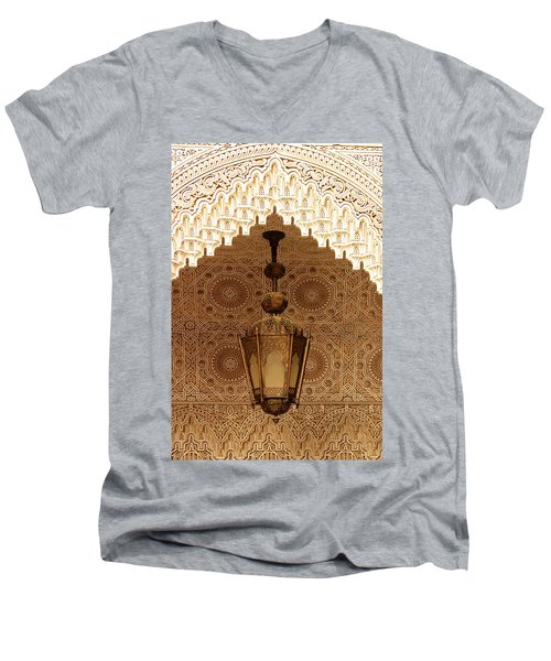 Islamic Plasterwork Men's V-Neck T-Shirt by Ralph A  Ledergerber-Photography