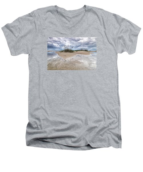 Men's V-Neck T-Shirt featuring the photograph Private Island by Alan Raasch