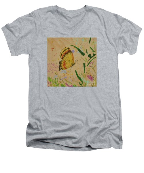 Island Butterfly Series 1 Of 6 Men's V-Neck T-Shirt