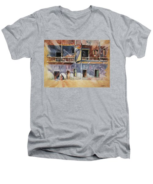 Island Community Men's V-Neck T-Shirt by Al Brown