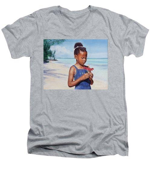 Island Flowers Men's V-Neck T-Shirt