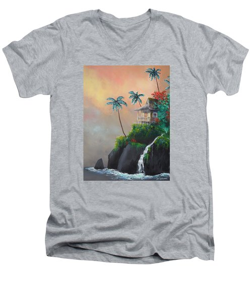 Island Getaway Men's V-Neck T-Shirt