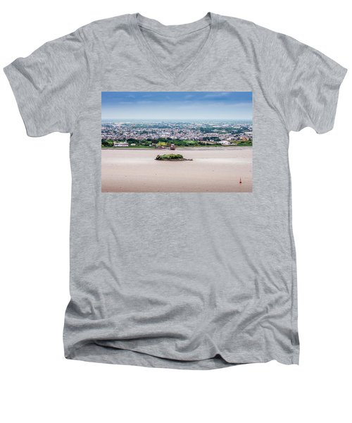 Island In The River Men's V-Neck T-Shirt