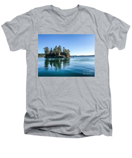 Island In West Sound Men's V-Neck T-Shirt