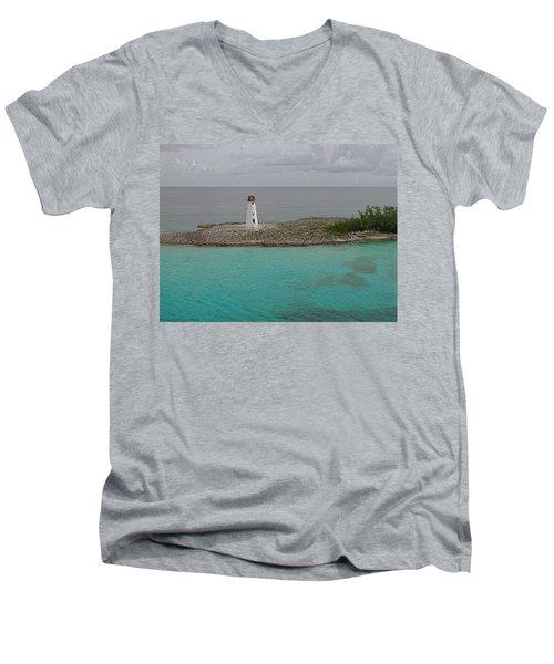 Island Lighthouse Men's V-Neck T-Shirt