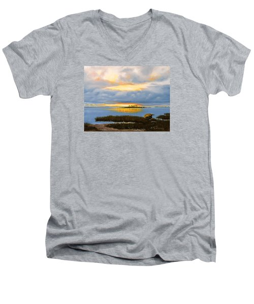 Island Sunset Men's V-Neck T-Shirt