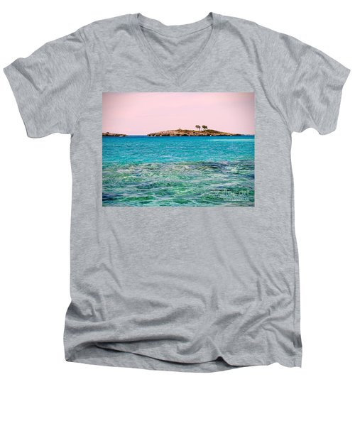 Island Tree Couple Men's V-Neck T-Shirt