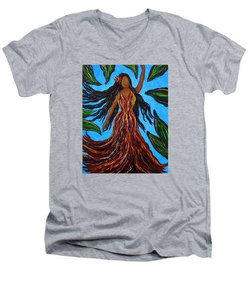 Island Woman Men's V-Neck T-Shirt