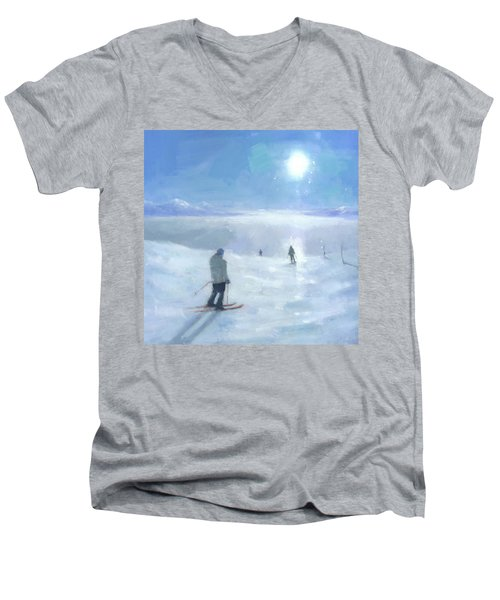 Islands In The Cloud Men's V-Neck T-Shirt by Steve Mitchell