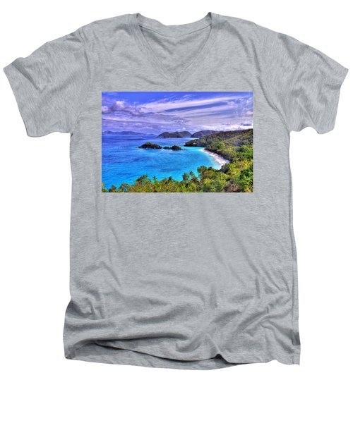 Isle Of Sands Men's V-Neck T-Shirt