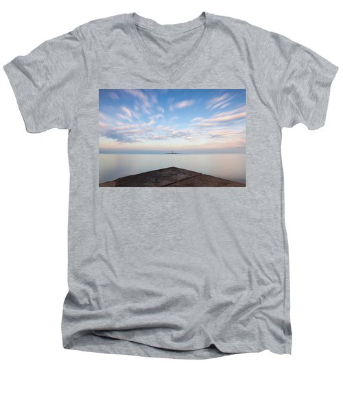 Islet Baraban With Lighthouse Men's V-Neck T-Shirt