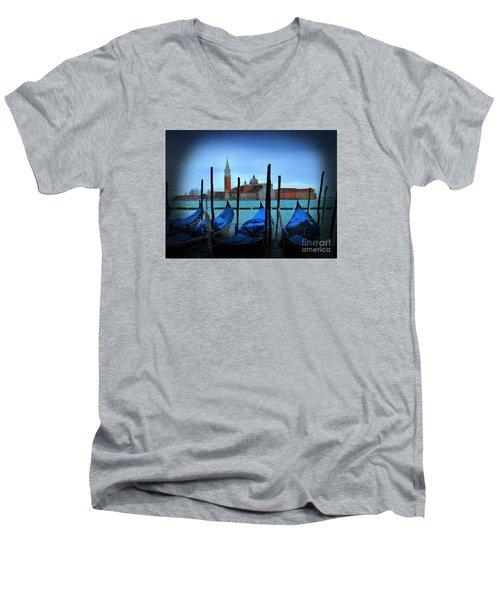 Isola Di San Giorgio, Venice, Italy IIi Men's V-Neck T-Shirt by Al Bourassa