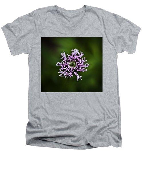 Isolated Flower Men's V-Neck T-Shirt by Jason Moynihan