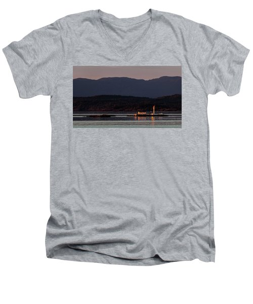 Isolated Lighthouse Men's V-Neck T-Shirt