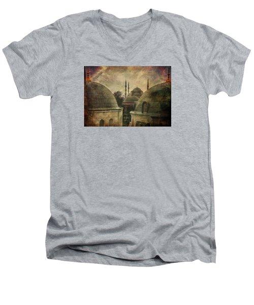 Istambul Mood Men's V-Neck T-Shirt by Vittorio Chiampan