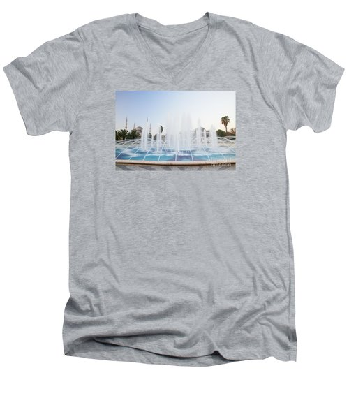 Istanbul City Center I Men's V-Neck T-Shirt by Yuri Santin