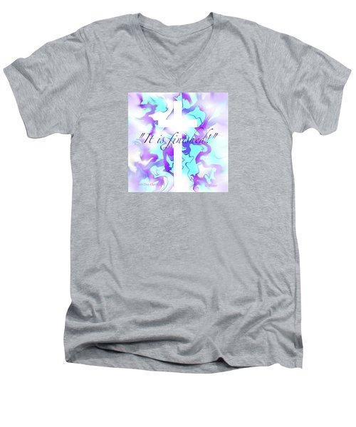 It Is Finished Men's V-Neck T-Shirt