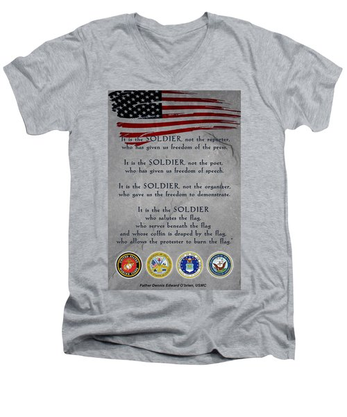 It Is The Soldier Men's V-Neck T-Shirt