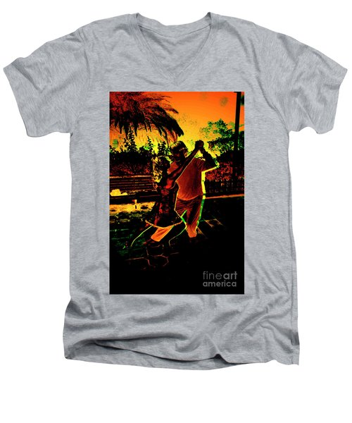 Men's V-Neck T-Shirt featuring the photograph It Takes Two To Tango by Al Bourassa