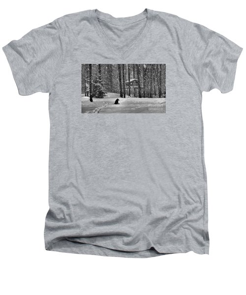 It Was A Dark And Stormy Night Men's V-Neck T-Shirt