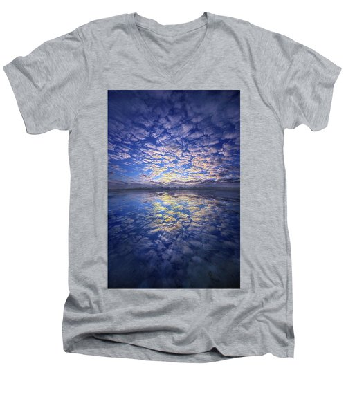 Men's V-Neck T-Shirt featuring the photograph It Was Your Song by Phil Koch