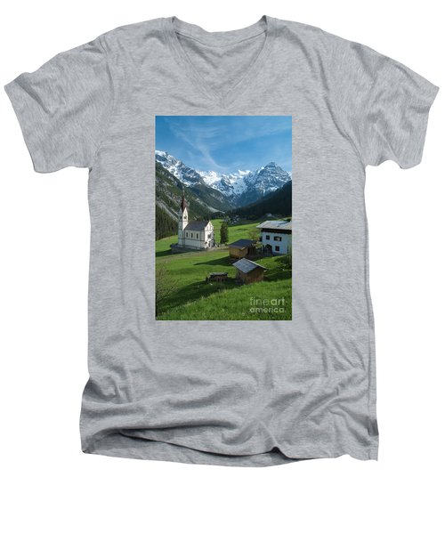 Italian Alps Hidden Treasure Men's V-Neck T-Shirt