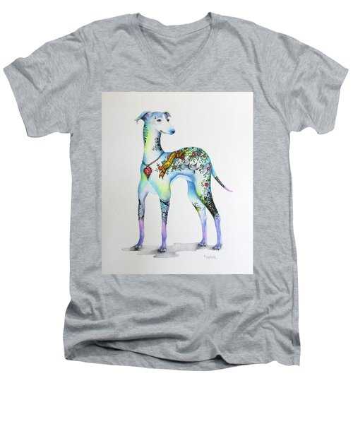 Italian Greyhound Tattoo Dog Men's V-Neck T-Shirt