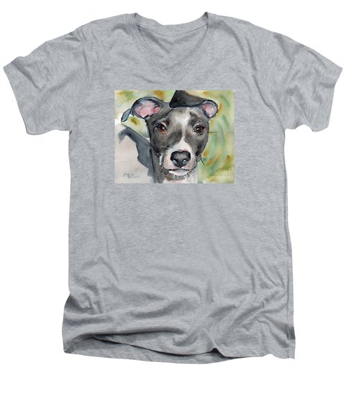 Italian Greyhound Watercolor Men's V-Neck T-Shirt