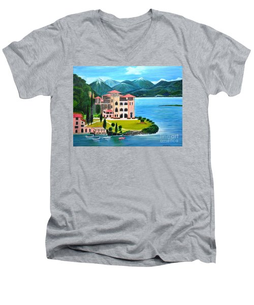 Italian Landscape-casino Royale Men's V-Neck T-Shirt